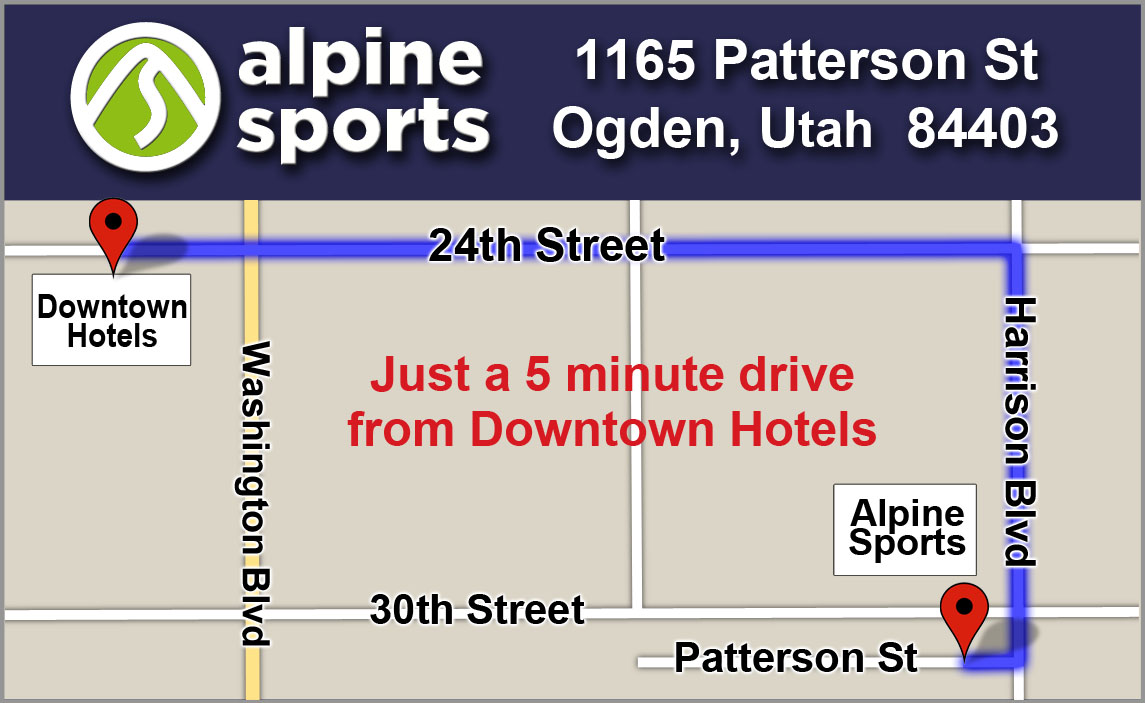 Alpine Sports Ogden Utah Map